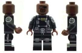 Nick Fury From The Avengers - Custom Designed Minifigure